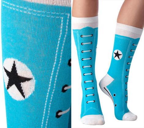 Converse Hi Top Socks blue