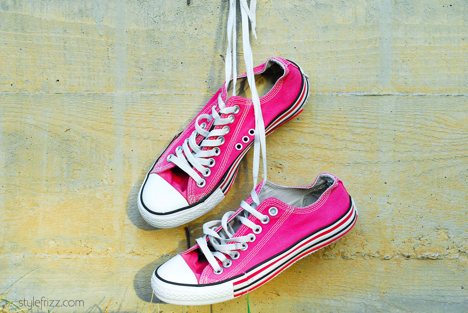 Converse pink worn out Stylefrizz