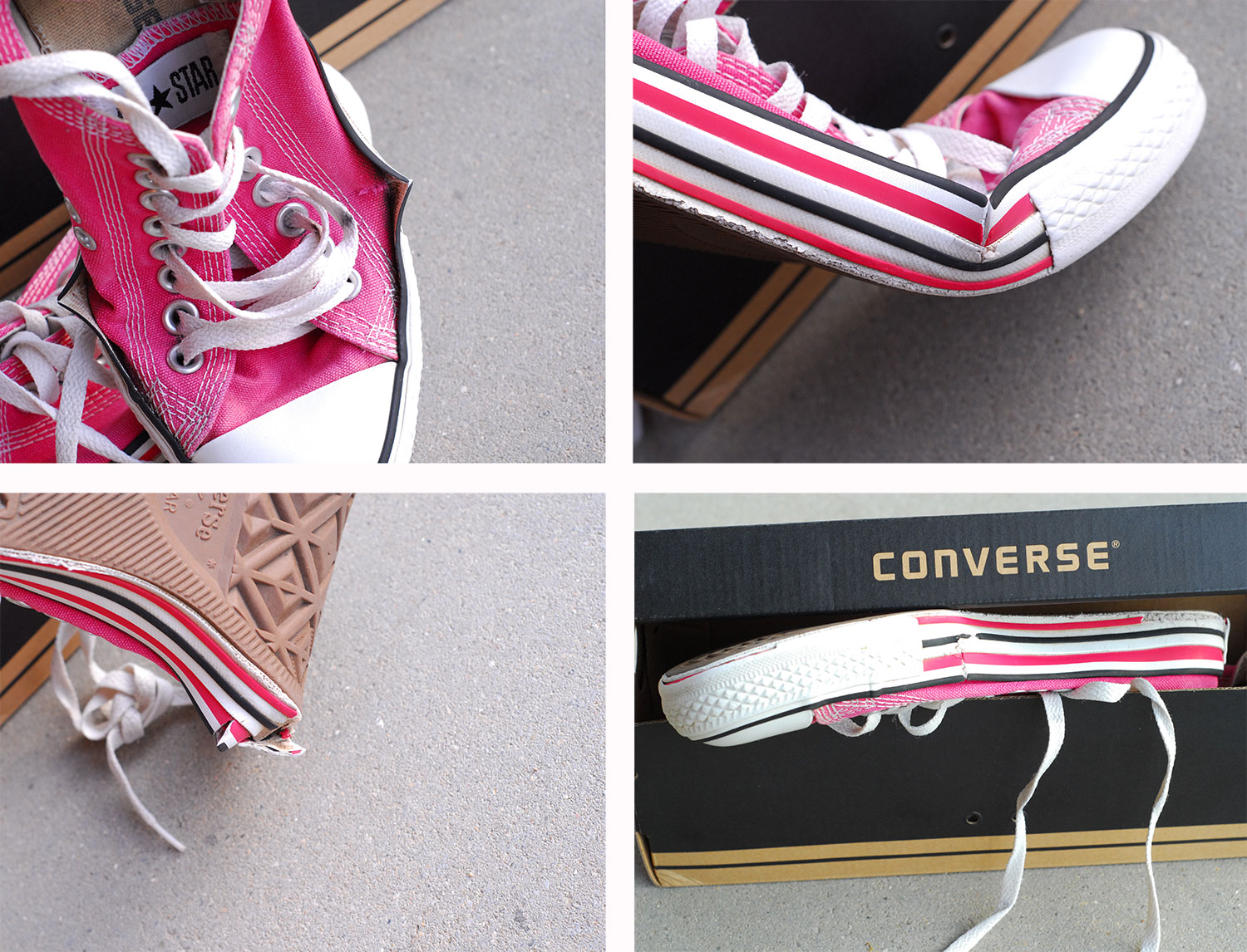 Converse sneakers worn out prematurely