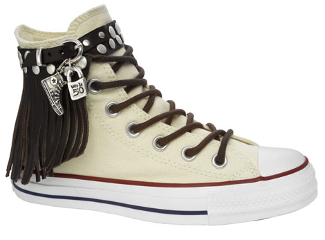 Converse uno de 50 leather fringe sneakers