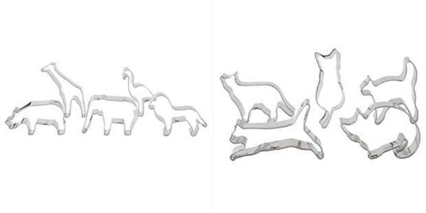 cookie cutters animals shapes