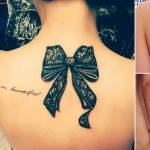 cool ways to wear bows tattoos