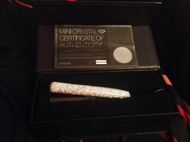 Corioliss Swarovski Crystallized mini travel iron straightener