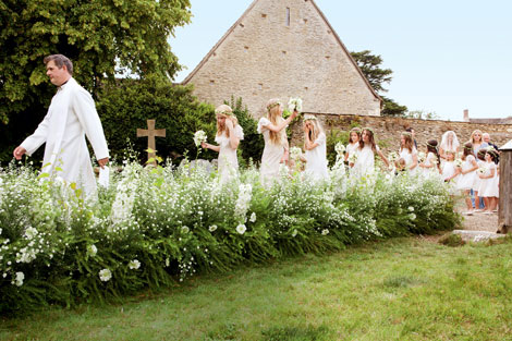 country wedding Kate Moss