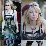 Courtney Love retro frilly outfit details