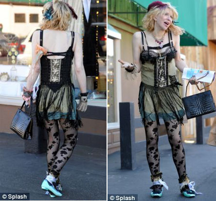 Courtney Love retro frilly outfit