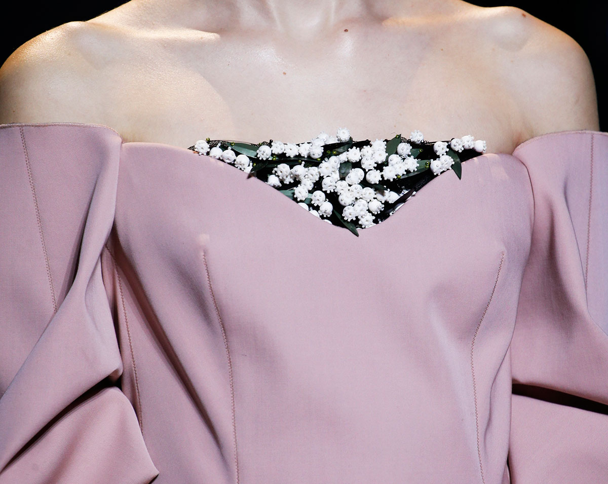 Couture flowers dress Dior ss16