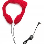 Crocheted bow headphones Traci Medeiros Bagan