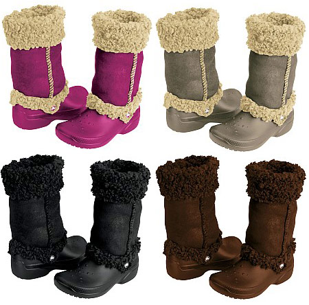Crocs boots various colors