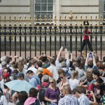 crowds waiting for the RoyalBaby
