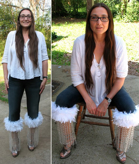 Crystal feathers Rosebud jeans