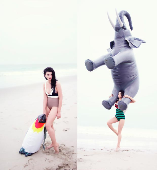 Crystal Renn beach Hunger pictorial by Rankin