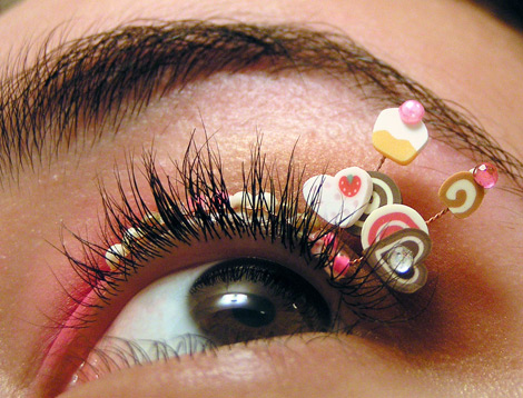 Cupcakes eyelashes jewelry