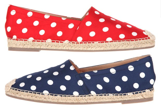 Cute And Fashionable Summer Shoes: Valentino Polka Dots Espadrilles