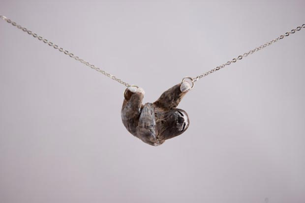 cute lazy sloth necklace