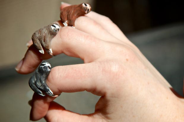 cute sloth rings