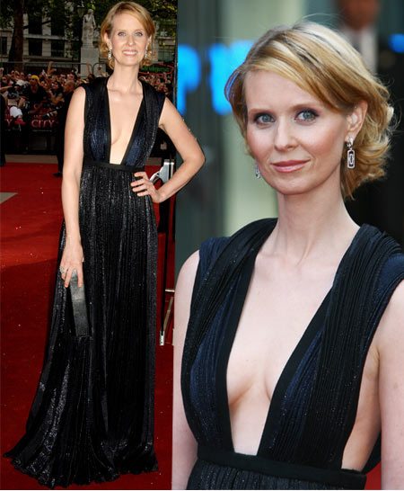 Cynthia Nixon In Calvin Klein At Sex And The City The Movie London Premiere