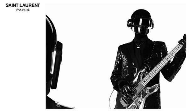Daft Punk duo fashion campaign Saint Laurent Paris