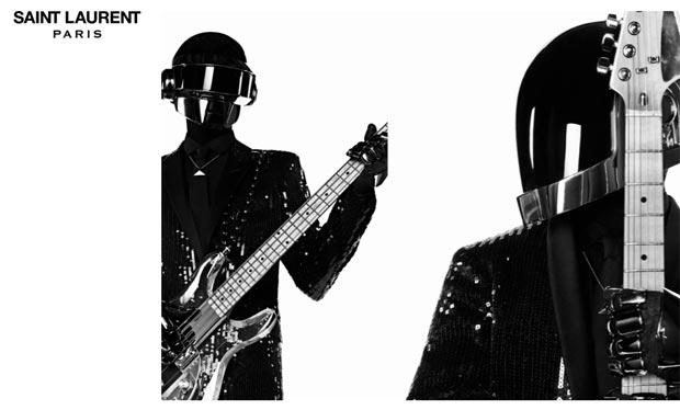 Daft Punk masked for Saint Laurent Paris ad campaign