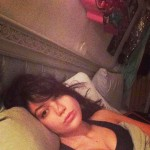 Daisy Lowe in bed without makeup wakeupcall