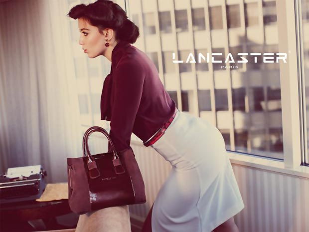 Daisy Lowe Plays Bonnie&Clyde For Lancaster Bags Ad Campaign