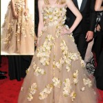 Dakota Fanning Valentino flowery dress Met Gala 2011