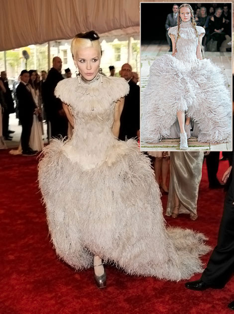 Daphne Guinness In Alexander McQueen For Met Gala 2011