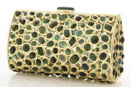 Darby Scott $110,000 Clutch — StyleFrizz :  darby scott 18 carat bag green