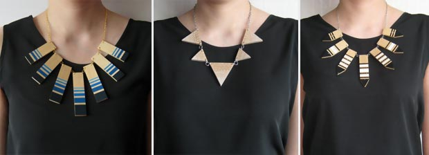 dare to wear the wood statement necklace