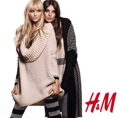 Daria Werbowy Anja Rubik H M 2010 collection ad campaign