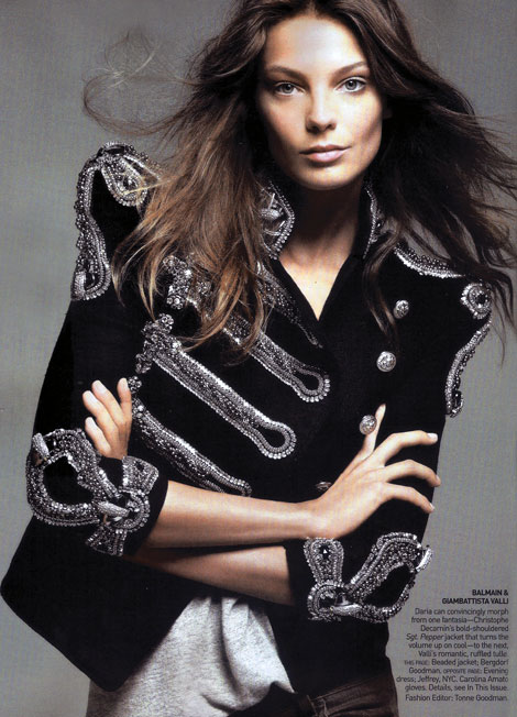 Daria Werbowy Balmain Vogue US May 09