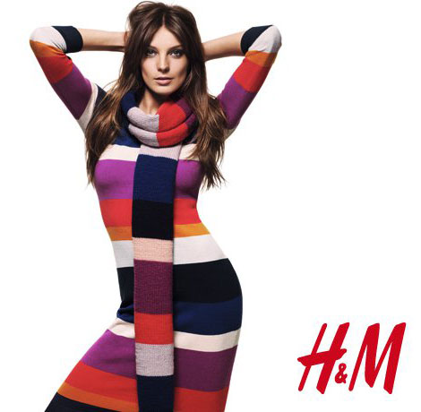 Daria Werbowy H M warm 2010 collection campaign