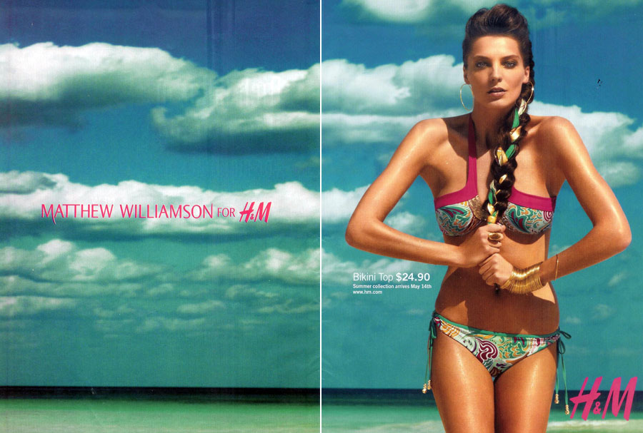 Daria Werbowy HM Matthew Williamson ads 3