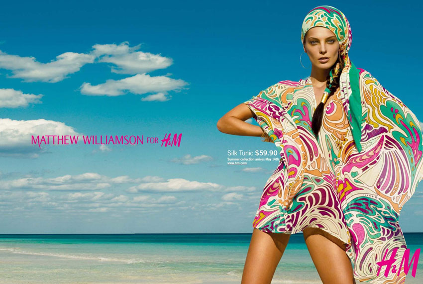 Daria Werbowy HM Summer 2009 Matthew Williamson large