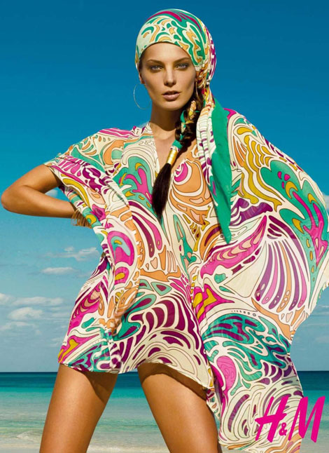 Daria Werbowy HM Summer 2009 Matthew Williamson