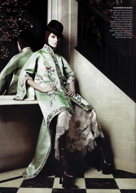 Daria Werbowy Alexander McQueen Vogue US May 09