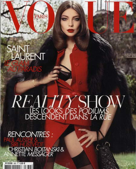 Daria Werbowy Vogue Paris august 2008 cover