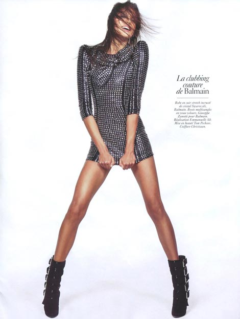 Daria Werbowy Vogue Paris August 2009 Balmain