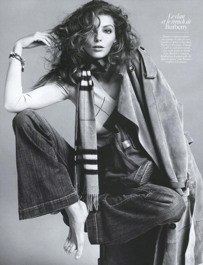 Daria Werbowy Vogue Paris August 2009 Burberry