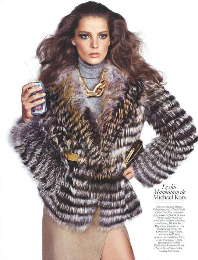 Daria Werbowy Does Vogue Paris August 2009