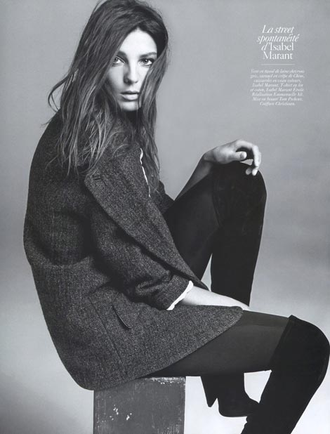 Daria Werbowy Vogue Paris August 2009 marant