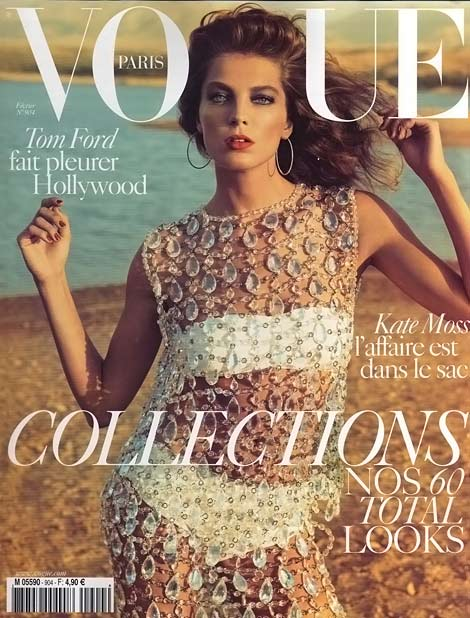 Daria Werbowy Vogue Paris February 2010 cover