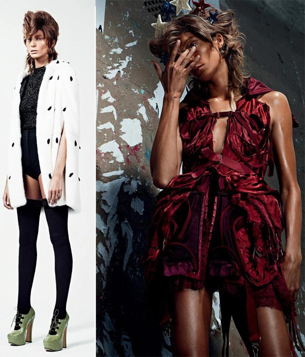 Daria Werbowy Vogue Russia October 2013 pictorial