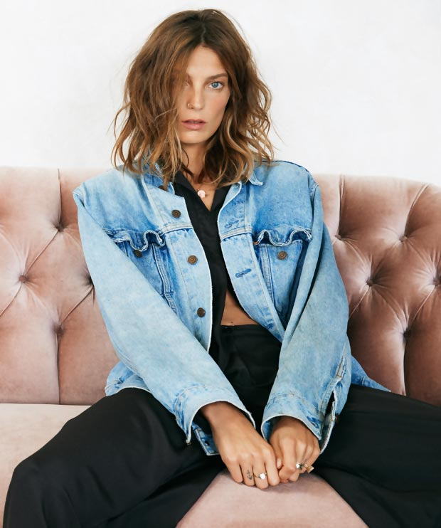 Daria Werbowy Vogue UK pictorial