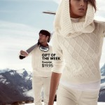 Daria Werbowy white sweater HM winter 2012