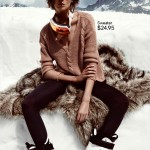 Daria Werbowy winter knit H and M