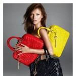 dark hair Kate Moss Versace bags ad campaign