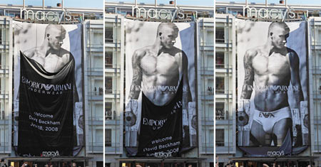 David Beckham Emporio Armani Billboard