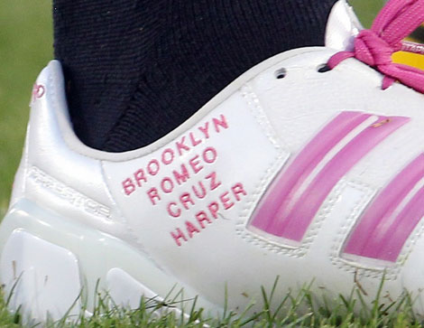 David Beckham pink soccer shoes kids names