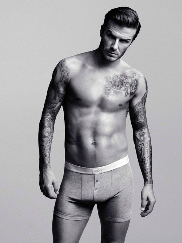 David Beckham sans clothes for H and M